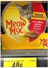 meow mix  cup