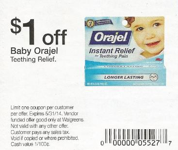 Printable Coupons And Deals 1 Off Any One Baby Orajel