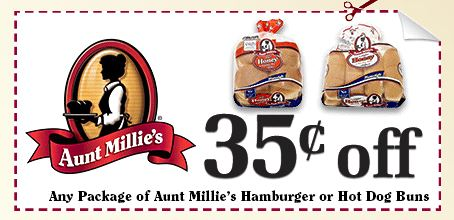 aubnt millies hot dog buns