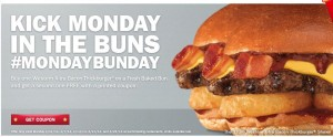 hardees monday bun day
