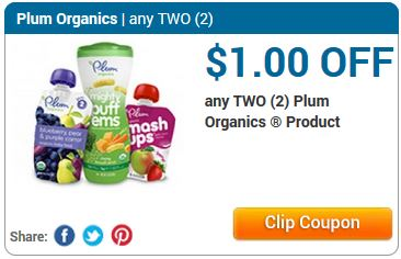 photograph about Plum Organics Printable Coupon identified as $1 off any 2 Plum Organics Items and Cartwheel discount codes