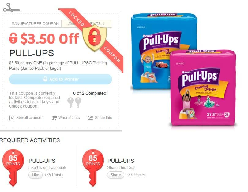 photo about Pull Ups Printable Coupons called Substantial price tag: $2 or $3.50 off any 1 Deal of Huggies