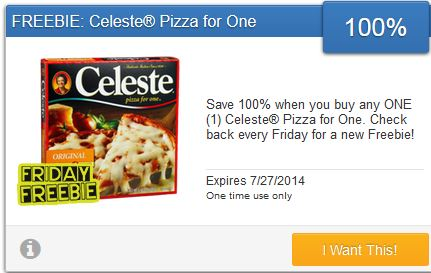 Celeste pizza for one