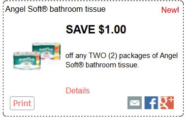 Grab this printable coupon offer today and save $2 off your purchase. Find Angel Soft Bath Tissue and buy a 36 double roll pack in order to save. Angel Soft Bath Tissue $2 Off.
