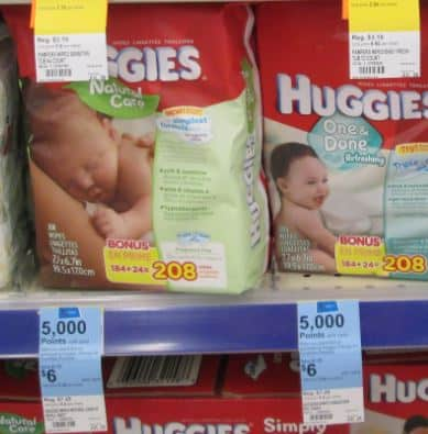 huggies wipes $6 wags