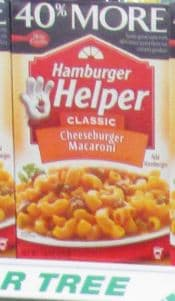 Hamburger helper dollar tree