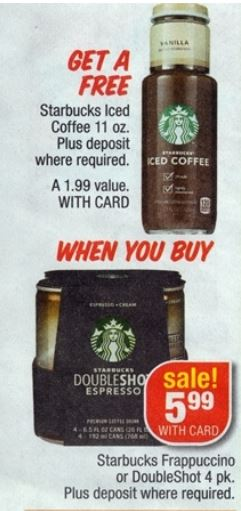 Starbucks double shot cvs 08-31