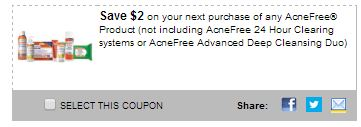 Acne free coupons