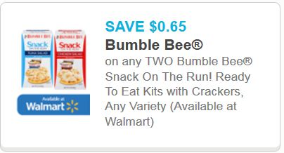 bumble bee snack on the run tuna kits