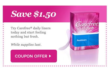 carefree liners coupon
