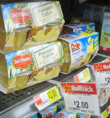 delmonte fruit walmart roll back