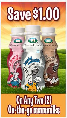 shamrock on the go milk