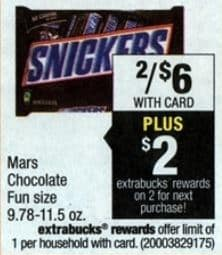 Mars fun size cvs