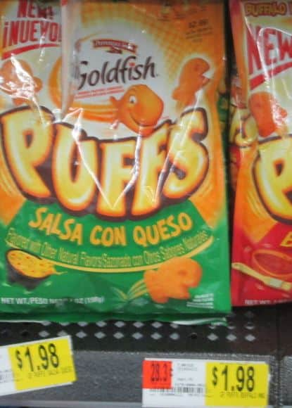 gold fish puffs walmart