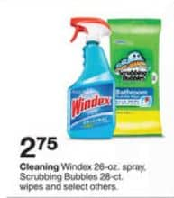 target windex and scrub bubbles