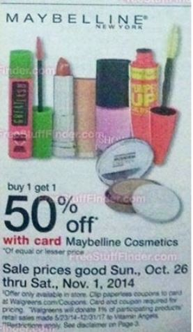 Maybelline wags 10-26