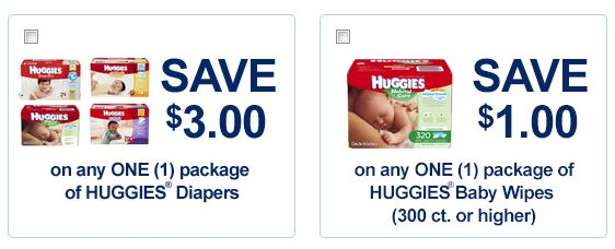 Coupons for diapers and wipes
