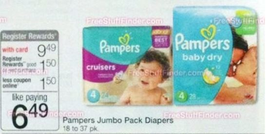 Walgreens pampers 10-05