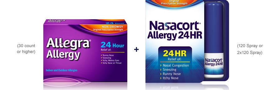 image about Allegra Printable Coupon titled Allegra and Nasalcort Printable coupon codes - Printable Discount codes