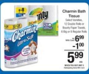 charmin and bounty kroger