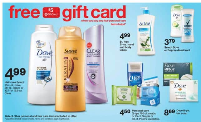 dove $5 gift card target 10-26