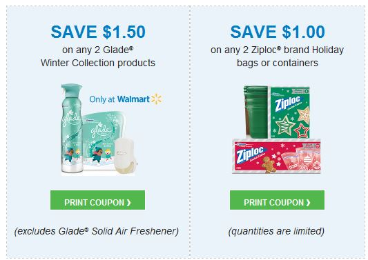 Glade and ziploc holiday
