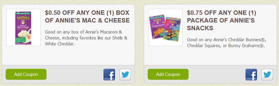 annies new coupons