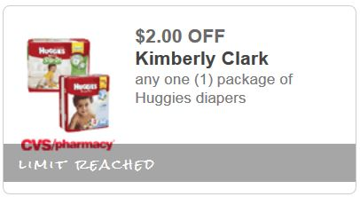 cvs diapers $2