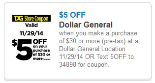 dollar General new nov
