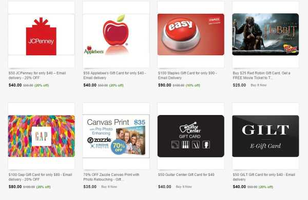 Ebay Gift cards 20 off