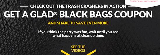 graphic relating to Glad Trash Bags Printable Coupon referred to as Contented Trash Bag Printable Coupon codes - Printable Discount coupons and Promotions