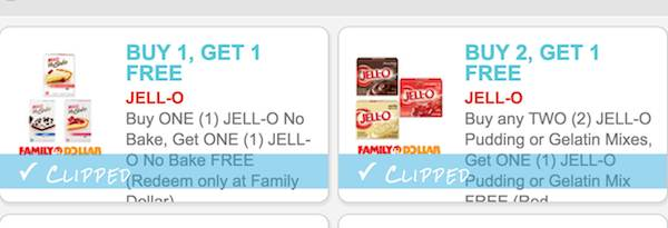 Jell-O Family Dollar Coupons