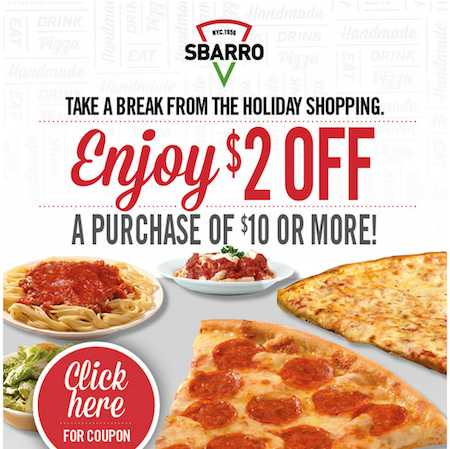 Sbarro 2 coupon
