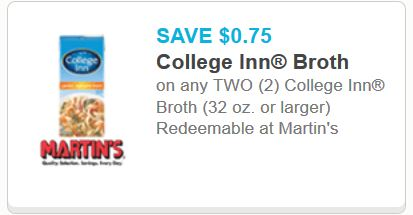 printable coupons for college inn broth