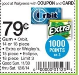 extra gum wags 11-30