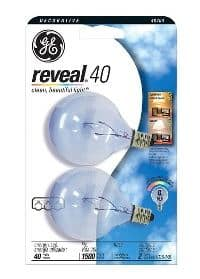 ge reveal light bulb 2-pack