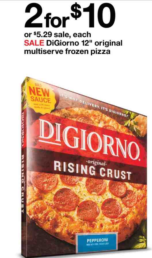 picture about Digiorno Printable Coupon identify $2.00 off any 2 (2) Huge DIGIORNO Pizzas Printable Coupon