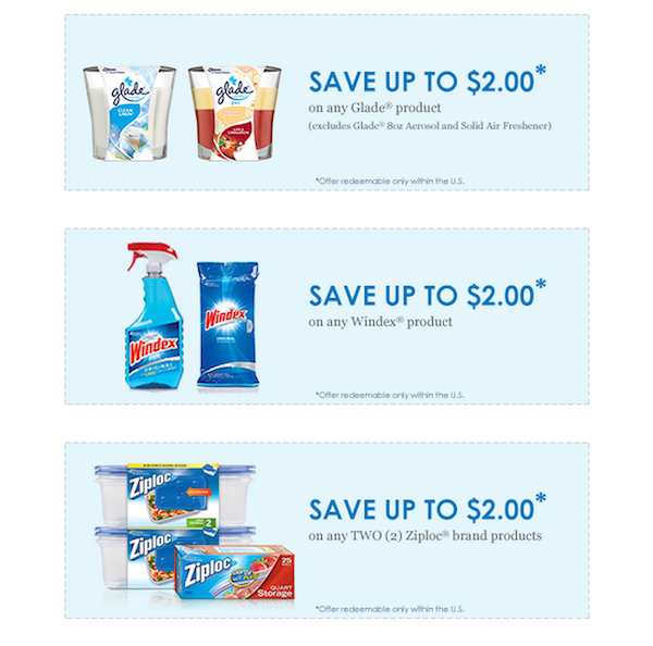 Glade Windex Ziploc Printable Coupon