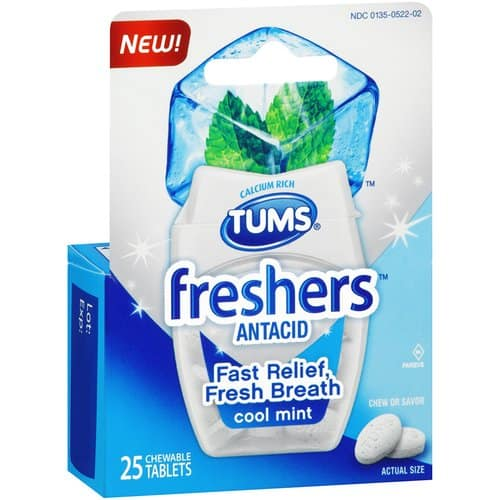 graphic about Tums Coupon Printable called Awesome $1.50 off TUMS freshers or Chewy Delights Printable