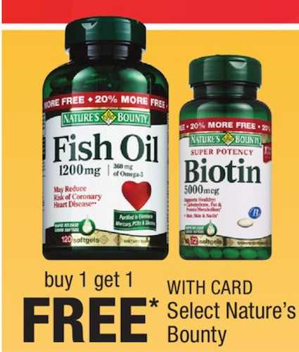 Printable coupons and deals nature s bounty vitamin or for Cvs fish oil