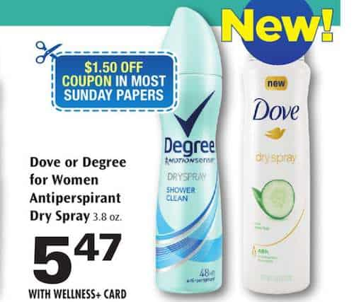 printable coupons and deals 1 50 off new dove dry spray