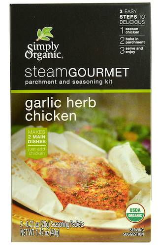 Simply-Organic-Steam-Gourmet-Parchment-And-Seasoning-Kit-Garlic-Herb-Chicken