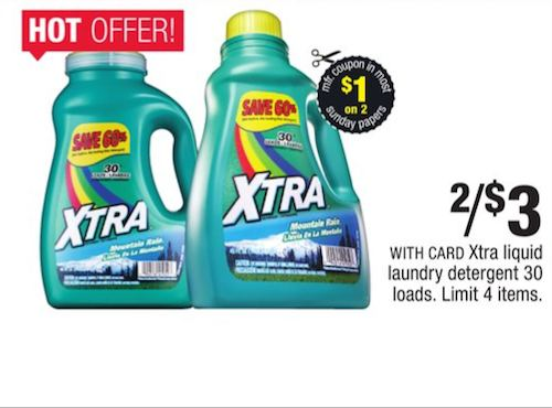 Xtra laundry detergent coupon july 2018