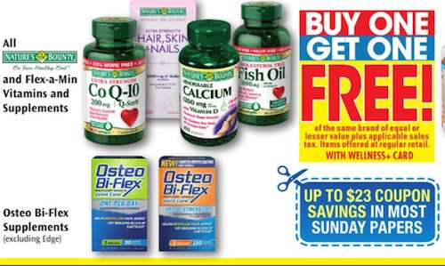$3.00 Off ANY Osteo Bi-Flex® JOINT HEALTH* 30-60ct Printable Coupon Plus Rite Aid BOGO FREE Matchup!