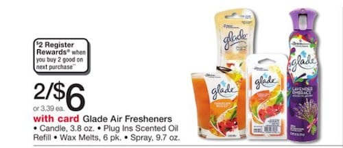 Glade Walgreens Wax Melts