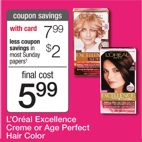 L'Oreal Paris Haircolor Printable Coupon