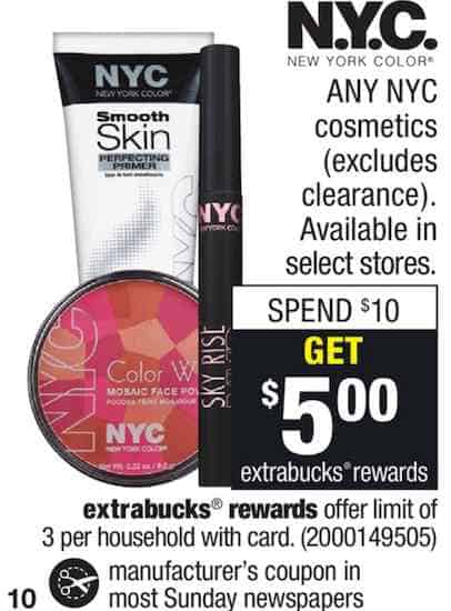 NYC New York Color Printable Coupon