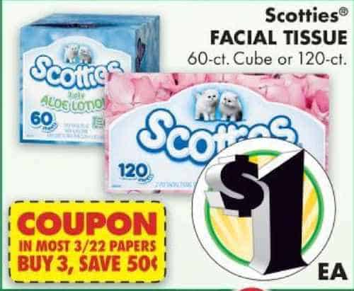 Scotties Facial Tissue Printable Coupon