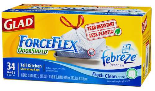 image regarding Glad Trash Bags Printable Coupon called Satisfied Forceflex Trash Baggage Printable Coupon - Printable