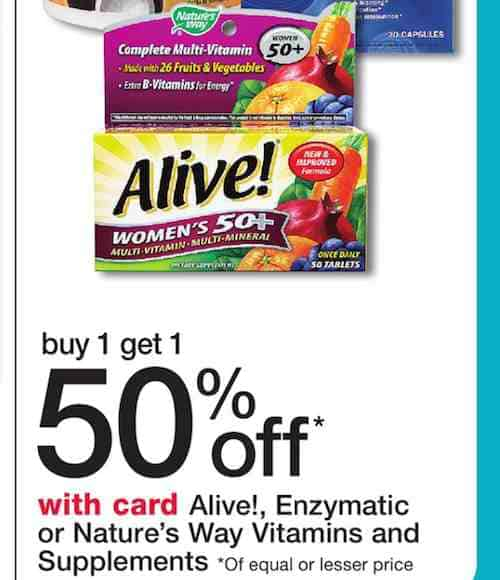 graphic about Alive Printable Coupon called Alive! Multi-vitamin Printable Coupon - Webpage 3 of 3